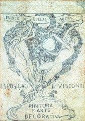 As Artes - Estudo preliminar para a capa do catálogo da Exposição de 1901