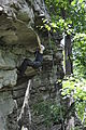 Elizabeth Furnace - Climber on unknown climb left of Fortis - 3.JPG