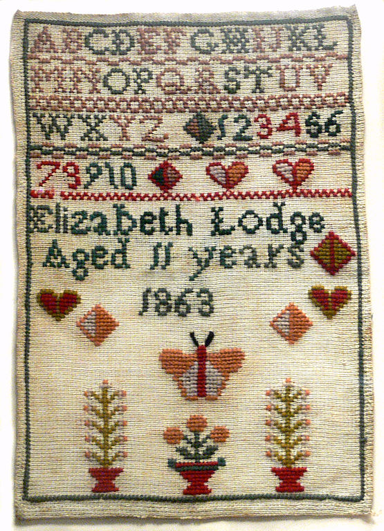 Fileembroidery Sampler 1863 Womens Museumg Wikimedia Commons