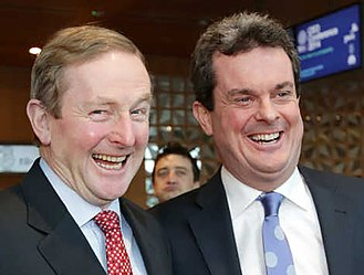 Corporate haven - Irish Taoiseach Enda Kenny and PwC (Ireland) Managing Partner Feargal O'Rourke.