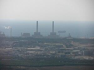 Eshkol Power Station - Image: Eshkol Power Station from heli
