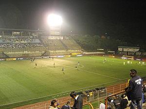 Estadio Cementos Progreso - The Estadio Cementos Progreso at night.