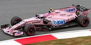 Force India VJM10 - Image: Esteban Ocon 2017 Malaysia FP2 2