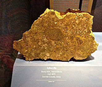 Estherville, Iowa - Estherville 1879 meteorite, at the Smithsonian