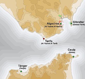 Siege of Algeciras (1342–44) - Strait of Gibraltar during the Siege of Algeciras