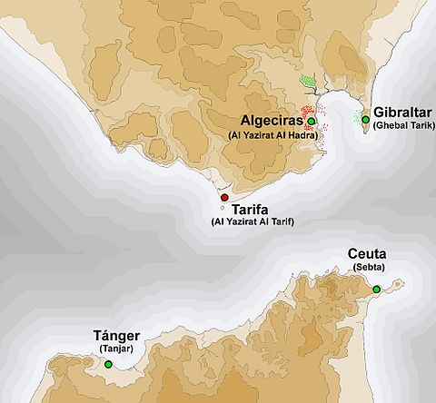 Strait of Gibraltar during the Siege of Algeciras Estrecho arabe.jpg