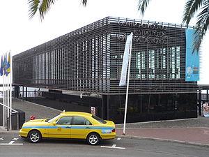 Estreito de Câmara de Lobos - The modernist Civic Centre in Estreito de Câmara de Lobos