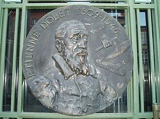 Étienne Dolet - Medallion with portrait of Étienne Dolet