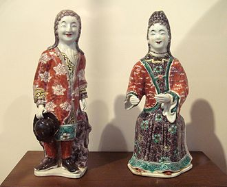 China–France relations - European couple, Kangxi period.