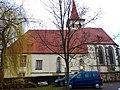Evangelische Pfarrkirche St. Blasius in Altdorf, Kirchturm 1440, 1617, Glocke 1458, Chor und Sakristei ab 1498 durch Steinmetz Hans von Bebenhausen errichtet. - panoramio (1).jpg