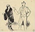 Eve Lavallière et Albert Brasseur dans 'Les favorites' d'Alfred Capus, dessin de Yves Marevéry.jpg