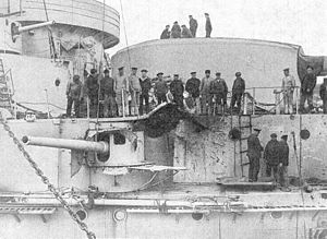 Battle of Cape Sarych - Damage to Evstafi from the battle