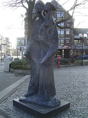 Two Ewalds - Monument of the Ewalds standing in Dortmund-Aplerbeck, Germany