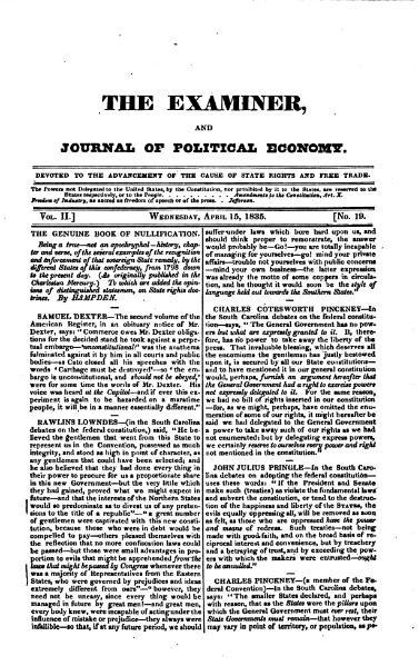 File:Examiner, Journal of Political Economy, v2n19.djvu