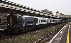 Exeter St Davids - SWR 159005+159022 arrived on platform 1.JPG