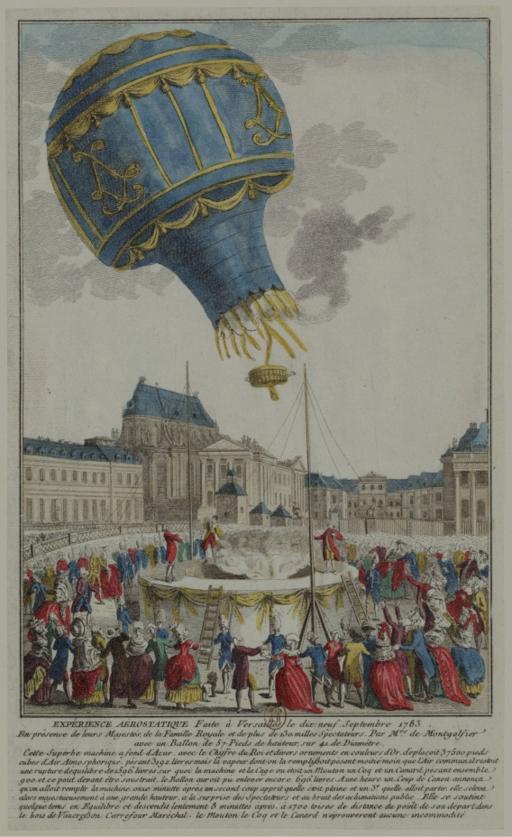 Experience Aérostatique faite à Versailles le dix-neuf Septembre 1783