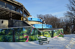 Rainbow Stage - External wall mural