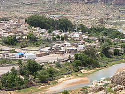 View of Dawad village from above.