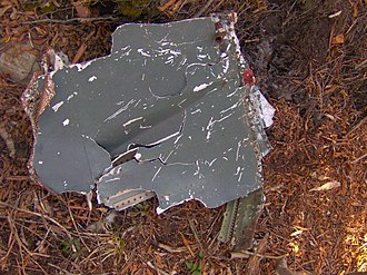 Old Black (Great Smoky Mountains) - Wreckage from an F4 Phantom that crashed near Old Black in 1984