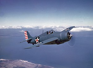 Grumman F4F Wildcat - F4F-3 in non-reflective blue-gray over light gray scheme from early 1942