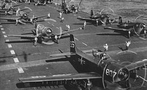 VMFA-211 - VMF-211 F4U-4s on the ''Coral Sea'' in 1952