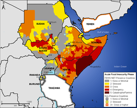 FEWS Net food security projection for East Africa at the height of the drought (July-Sept 2011).