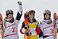 FIS Moguls World Cup 2015 Finals - Megève - 20150315 - Justine Dufour-Lapointe, Hannah Kearney et Chloé Dufour-Lapointe 2.jpg