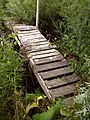 FLT CT08 7.4 mi - Bridge over Ellicott Creek, 1x6x21 deck, 18' long, 1 hand rail of 2x4s, 4 2x4 stringers supported by 2 2x4s under (unusual) - panoramio.jpg