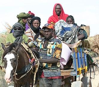 Demographics of Mali - A family in Djenné, Mali.