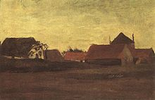 Farmhouses in Loosduinen near The Hague at Twilight.jpg