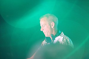Fatboy Slim - Cook performing at the 2013 Glastonbury Festival.