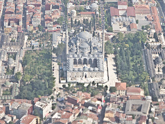 Fatih Mosque, Istanbul - Aerial view of the Fatih Mosque and the surrounding Külliye.