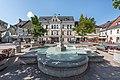 Feldkirchen Hauptplatz Nymphenbrunnen und Rathaus 04062018 3562.jpg