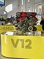 Ferrari engines at the old workshop of Museo Enzo Ferrari, Modena, Italy, 2019, 05.jpg