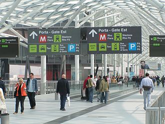 Rho Fiera (Milan Metro) - Exit to the metro station and other forms of transport is through the East Gate of FieraMilano