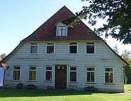 Findorff Haus wurde 1753 von Jürgen Christian Findorff umgebaut. Heute Heimatmuseum mit Schwerpunkt auf Vögel Ausstellung