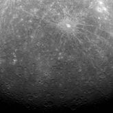 The first-ever photograph from Mercury orbit, taken by MESSENGER on March 29, 2011.