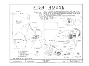 Fish House, Macclenny, Baker County, FL HABS FL-397 (sheet 1 of 10).png