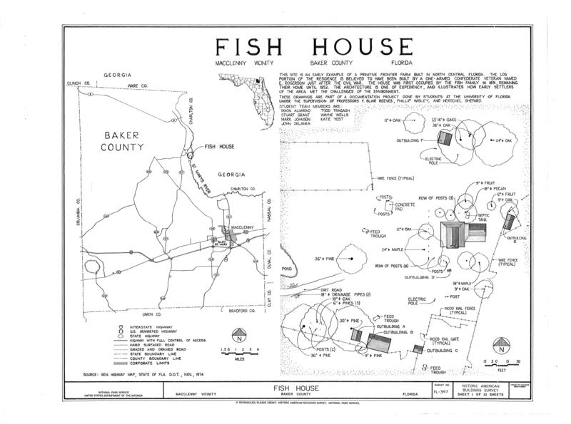 File:Fish House, Macclenny, Baker County, FL HABS FL-397 (sheet 1 of 10).png