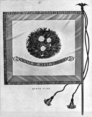 Flags whose reverse differs from the obverse - Image: Flag of West Virginia, Reverse, 1913