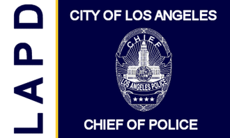 Chief of the Los Angeles Police Department - Image: Flag of the Chief of the Los Angeles Police Department