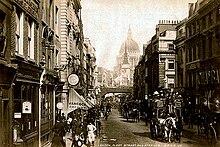 Londra'da 1890 yılında Fleet Street.