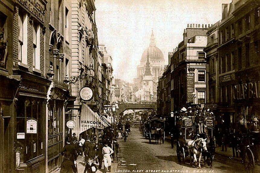 Fleet Street. By James Valentine c.1890.