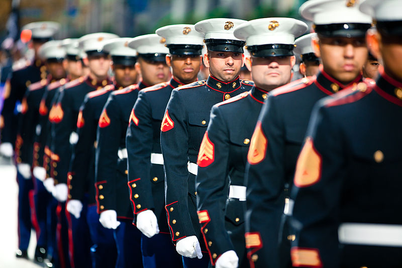 File:Flickr - DVIDSHUB - Marines march in 2011 New York Veterans Day Parade (Image 1 of 10).jpg