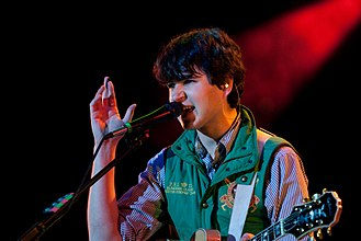 Vampire Weekend - Lead singer Ezra Koenig with the band in 2009