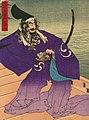 Flooded Takamatsu Castle and Shimizu Muneharu committed Seppuku by Toyonobu (cropped).jpg