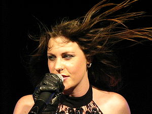English: Floor Jansen, singer of the Dutch ban...