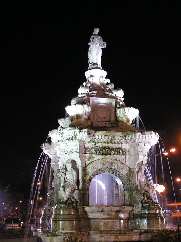 Flora Fountain at Hutatma Chowk in Mumbai, India