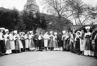 Skansen - Folk dance at Skansen in 1904.