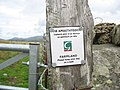 Footpath Sign at Pen-y-bwlch - geograph.org.uk - 229758.jpg